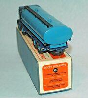DINKY Meccano England original 1948 FODEN 14 Ton TANKER 2 tone blue #504 BOXED