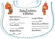 Baby Shower Games/ Gift for MUM  Prediction Cards(10 Players)CHEAPEST £1.49 ONLY