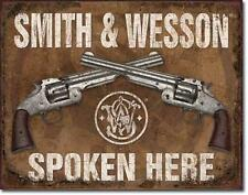 Smith & Wesson salvaje oeste revolver estados unidos vintage Design escudo de metal