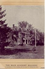 MAIN OBERLIN ACADEMY BUILDING TWO-PART CARD OHIO