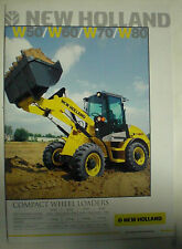 NEW HOLLAND W50 / W60 / W70 / W80 BAGGER PROSPEKT SALES BROCHURE ENGLISCH