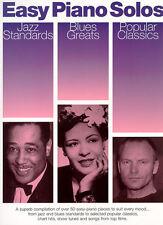 Easy Piano Solos Jazz Blues Pop Classics Music Book NEW