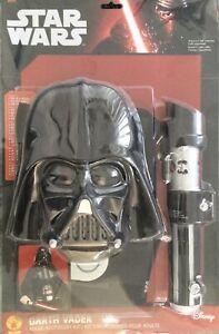 Darth Vader Costume Boys Kids Disney Star Wars Fancy Dress Outfit Licensed
