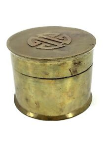 Vintage Small Asian Chinese Hinged Lidded Small Trinket Jewelry Box Storage