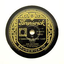 """JERI SOUTHERN """"I Thought Of You Last Night"""" BRUNSWICK 04910 [78 RPM]"""