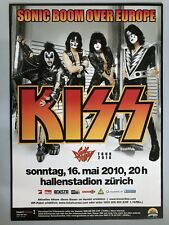 KISS 2010 Zurigo + + ORIG. CONCERT POSTER -- manifesto concerto NUOVO