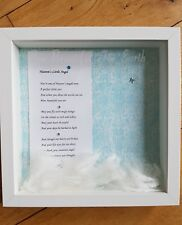 HANDMADE  ,  IN LOVING MEMORY BABY ANGEL INFANT CHILD LOSS BOX FRAME KEEPSAKE