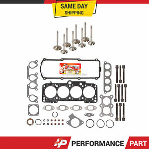 Head Gasket Set Intake Exhaust Valves for 95-02 Volkswagen Golf Jetta 2.0L 8V