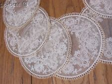 Gorgeous French Tambour NET Lace Coasters UNUSED Tags Set