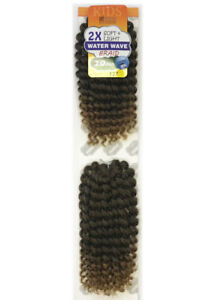 Aftress Mom & Kids  2X Water Wave Synthetic Crochet Braid-10 Inch