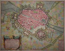 Le véritable plan de la ville et citadelle de Tournay -Tournai -de Baillieu 1729