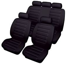 Black Leatherlook Front & Rear Car Seat Covers for Toyota Avensis All Models