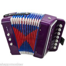�Great Gift� Accordion Purple 7 Button 2 Bass Kid Music Instrument *Special*