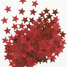 Sterne Konfetti Sternchen Streu Deko Metallic Rot Basteln Weihnachten 1cm Ø