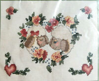 Seasons of the Heart Counted Cross Stitch Kit Ewe's Special NEW Sheep & Hearts