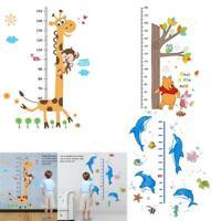 60x90cm Kids Baby Cute Animals Height Chart Measure Home Wall Sticker Room Decor