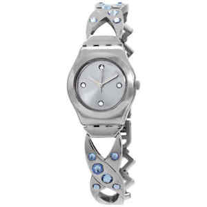 Swatch Silver Hug Quartz Silver Dial Ladies Watch YSS332G