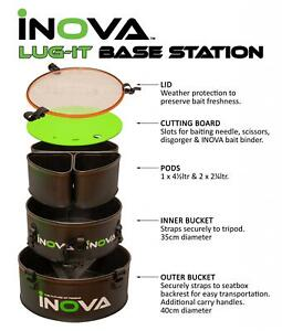 Inova Lug-It Base Station / Sea Fishing Tackle