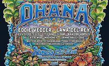 Ohana 2016 Concert Poster: Eddie Vedder, Lana Del Rey, Elvis Costello, Mudhoney
