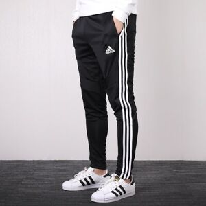 Adidas Tiro 19 Athletic Men's Black Soccer Pants Fitted Casual Training Joggers