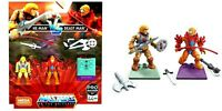 He-Man vs Beast Man Mega Construx MOTU Masters Of The Universe Figures Set New