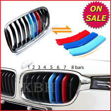 M Color Kidney Grille Bar Cover Decal Stripe Clip BMW 3 Series F30 F31 2013-2015