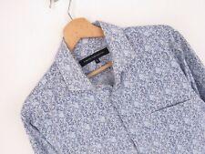 rp2084 French Connection Camisa Original Premium Flores Vintage DESTEÑIDO Talla