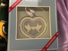 Wedgwood blue First Christmas Together 2017 Ornament New in box