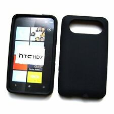 Silicone Skin Case fo HTC HD7 - Black