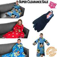 Snnugles Kids Cosy Warm Fleece Sleeved Blankets With Sleeves For Children