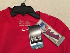 NIKE PRO COMBAT Men's Dri Fit HYPERCOOL Fitted Baseball Shirt Sz Small  NWT $110