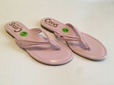 Sam Edelman Circus Cassiana Pink Patent Flat Flip Flop Sandals US Sz 9.5M New