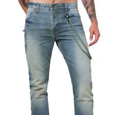 M.O.D Herren Männer Jeans Hose MOD BOB freezing blue blau vintage denim look