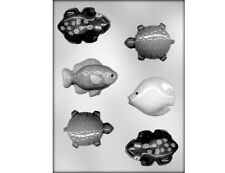 Fish, Frogs and Turtles Chocolate Mould or Soap Mould