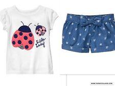 GYMBOREE Ladybug Shorts Outfit Wildflower Weekend  NWT SIZE 2T