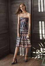Tory Burch Metallic Jacquard Strapless Gown Resort 2016  Dress Metallic 0 NWT XS