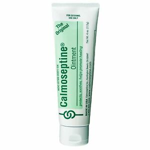 Calmoseptine Skin Protectant Ointment 4 oz Menthol Zinc Oxide 0799000104 2 Tubes
