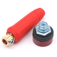 Red DKJ 10-25 Quick Fitting Welding Cable Connector Male Plug Female Socket