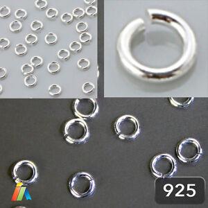 925 STERLING SILVER  0PEN JUMP RINGS Jewellery Making Findings 0,7mm Wire   F430