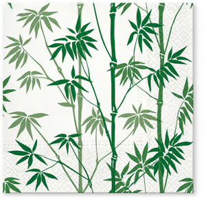 EXCLUSIVE 20 Paper Lunch Napkins BAMBOO FOREST GREEN Decoupage 33x33cm TL702506
