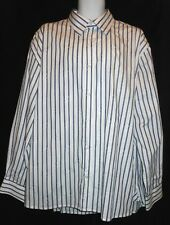 ARNOLD ZIMBERG WHITE & BLUE STRIPED L/S DRESS SHIRT AZ7102B4