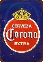1940 Corona Extra Cerveza Reproduction Metal Sign tin 8 x 12