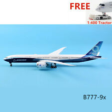 1:400 JC Wings LH4160 Boeing 777-9X N779XW Aircraft Model+Free Tractor