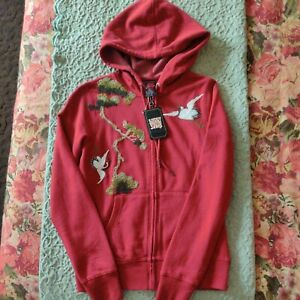 Vintage Lucky Brand Jeans Hooded Embroidered Jacket Sz. S