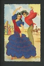 Embroidered clothing postcard Artist Elsi Gumier Dancers music Baile Flamenco #2