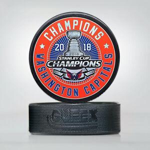 Washington Capitals champions 2018 puck NHL team Ice hockey club Ovechkin