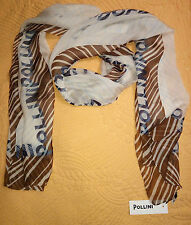 POLLINI SILK Long SCARF MADE IN ITALY 50 x 160 cm New with Tags .