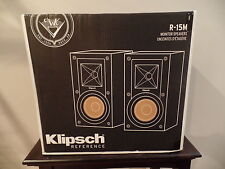 Klipsch R-15M Reference Bookshelf Monitor Speakers - Pair (Black) - BRAND NEW!