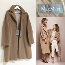 Max Mara Coat Camel Coat Virgin Wool Teddy Wrap Coat S M UK 10 BNWT