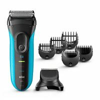 Braun Series 3 3-in-1 Men Electric Cordless Wet & Dry Shaver + Precision Trimmer